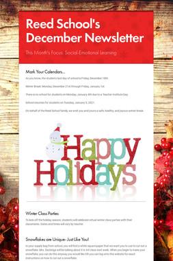 Reed School's December Newsletter