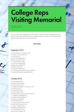 College Reps Visiting Memorial