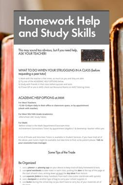Homework Help and Study Skills