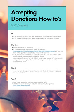Accepting Donations How to's