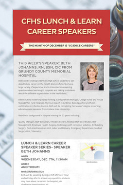 CFHS Lunch & Learn Career Speakers