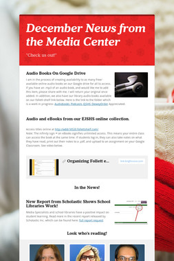 December News from the Media Center