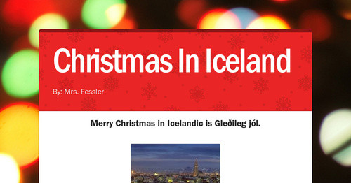 christmas in iceland smore newsletters - Merry Christmas In Icelandic
