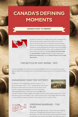 Canada's Defining Moments