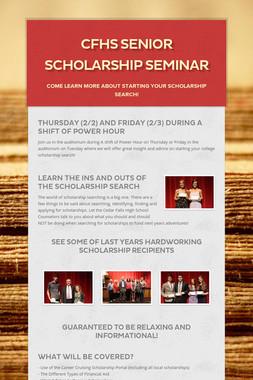 CFHS Senior Scholarship Seminar