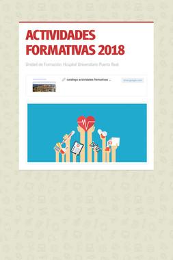 ACTIVIDADES FORMATIVAS 2018