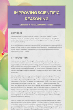 Improving scientific reasoning