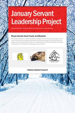 January Servant Leadership Project