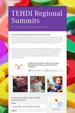 TEHDI Regional Summits
