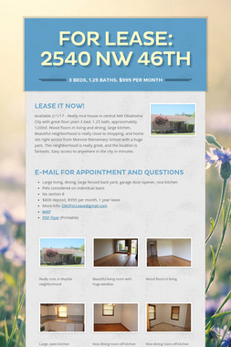 FOR LEASE:  2540 NW 46th