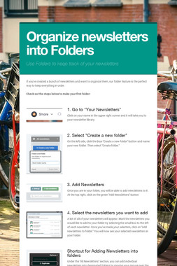 Organize newsletters into Folders