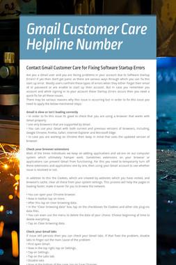 Gmail Customer Care Helpline Number