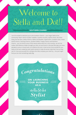 Welcome to Stella and Dot!!
