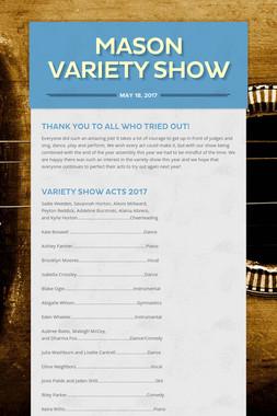 Mason Variety Show
