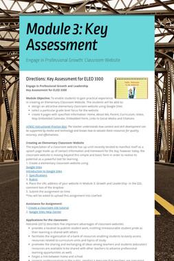 Module 3: Key Assessment