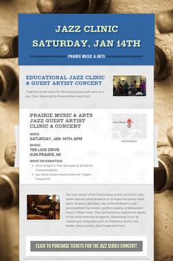 Jazz Clinic Saturday, Jan 14th