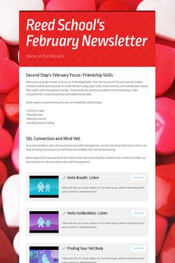 Reed School's February Newsletter