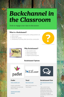 Backchannel in the Classroom