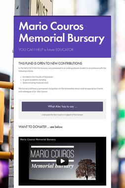 Mario Couros Memorial Bursary