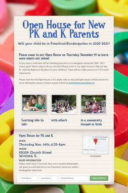 Open House for New PK and K Parents