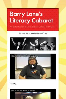 Barry Lane's Literacy Cabaret