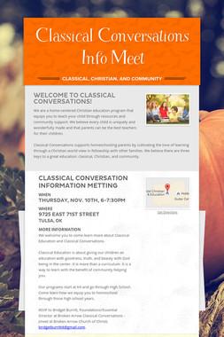 Classical Conversations Info Meet