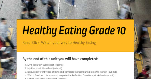 Healthy Eating Grade 10 Smore Newsletters For Education