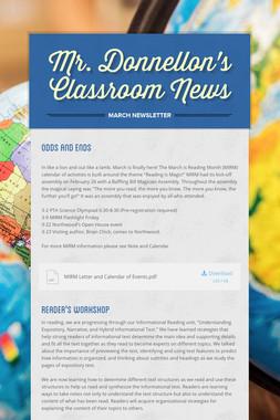 Mr. Donnellon's Classroom News