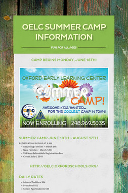 OELC Summer Camp Information