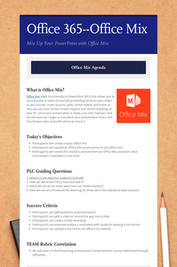 Office 365--Office Mix
