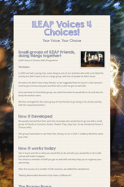 ILEAP Voices 4 Choices!