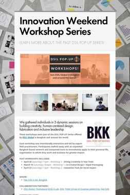Innovation Weekend Workshop Series