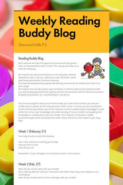 Weekly Reading Buddy Blog
