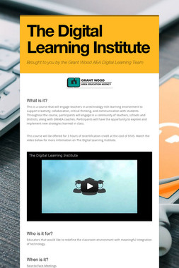 The Digital Learning Institute