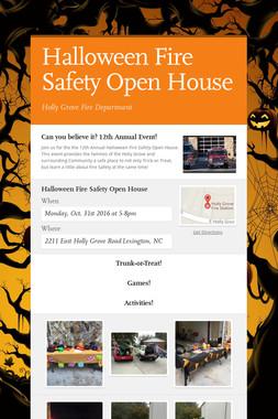 Halloween Fire Safety Open House