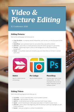 Video & Picture Editing