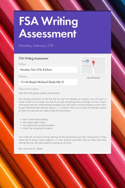 FSA Writing Assessment