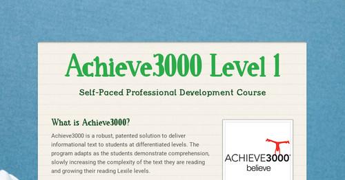 Achieve3000 Level 1