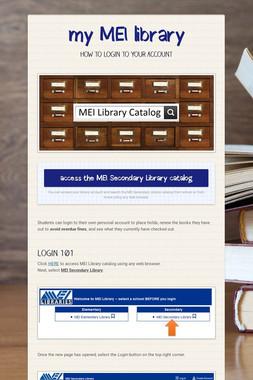 my MEI library