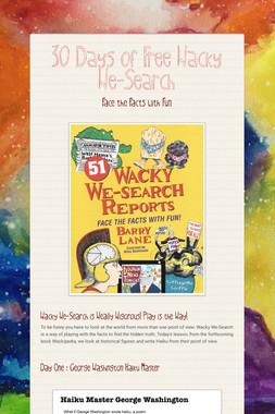Wacky We-Search