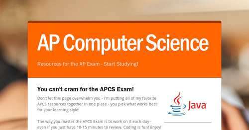 AP Computer Science | Smore Newsletters