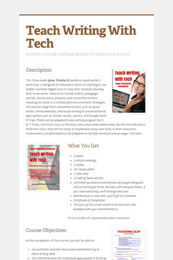 Teach Writing With Tech