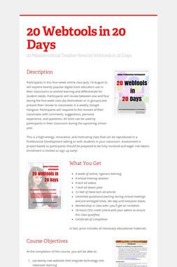 20 Webtools in 20 Days