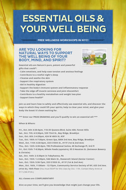 Essential Oils & Your Well Being
