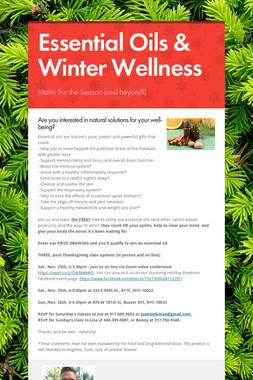 Essential Oils & Winter Wellness