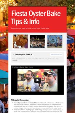 Fiesta Oyster Bake Tips & Info
