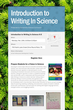 Introduction to Writing In Science