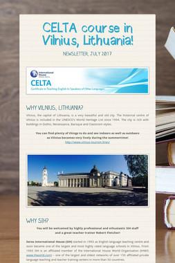 CELTA course in Vilnius, Lithuania!