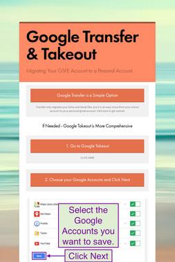 Google Transfer & Takeout