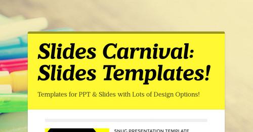slides carnival slides templates